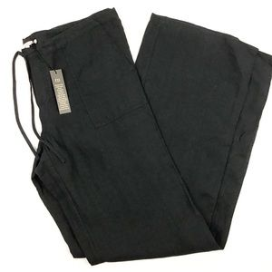 Victoria's Secret Black Linen Drawstring Pants 6L